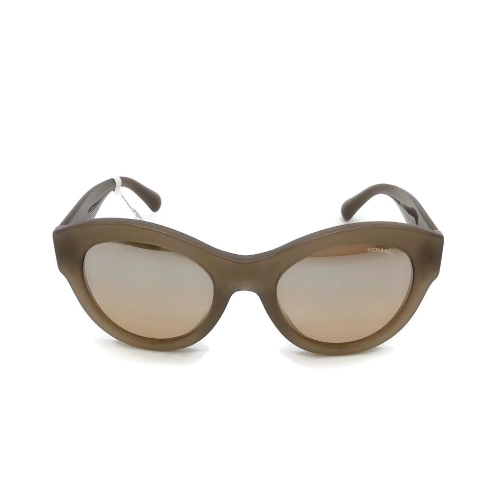 Chanel Taupe Lucite Sunglasses