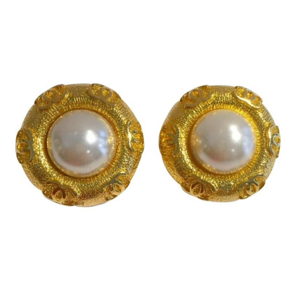 Pearl Clip On Earrings by Chanel