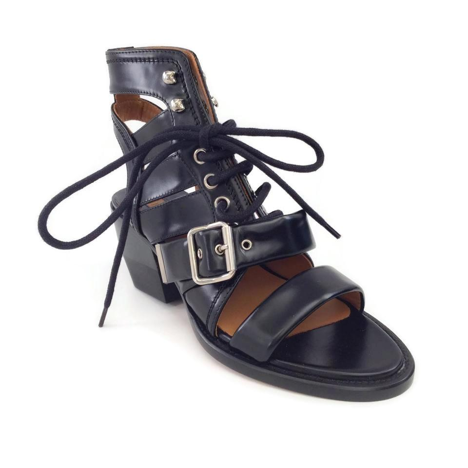 Chloé Black Western Open Toe Sandals