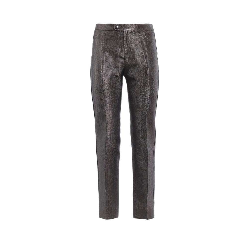 Chloé Grey / Brown Shimmer Crop Pants