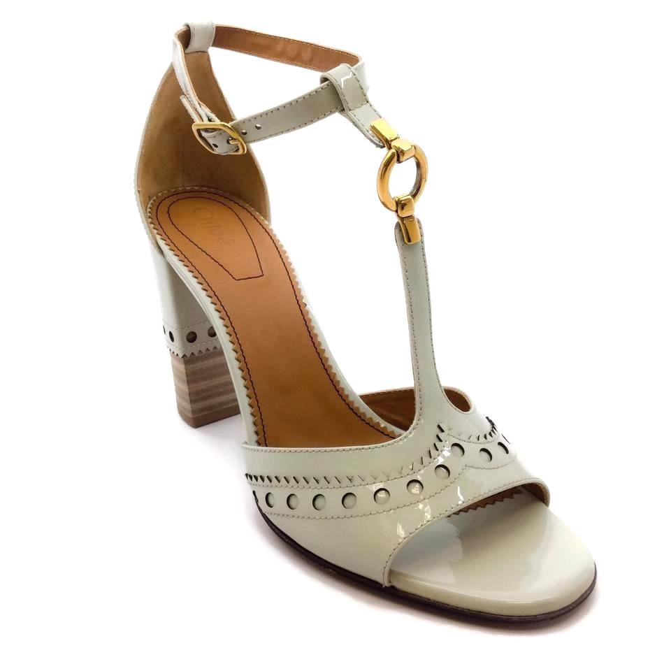 Chloé Light Green Perry Sandals