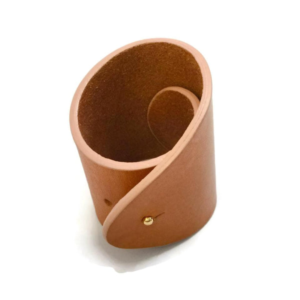 Chloé Tan / Leather Cuff Bracelet