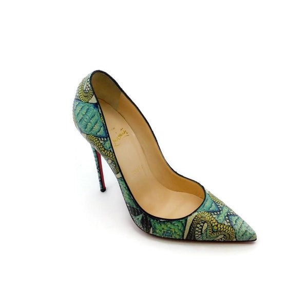 Christian Louboutin Mutlicolored Snake Print Pumps
