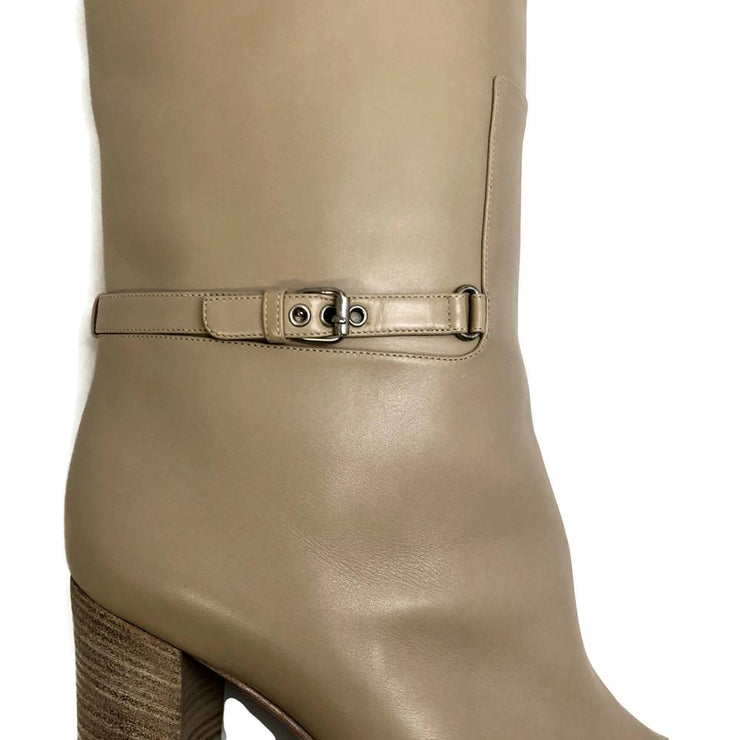 Christian Louboutin Tan Leather Tall W/ Buckle Boots/Booties