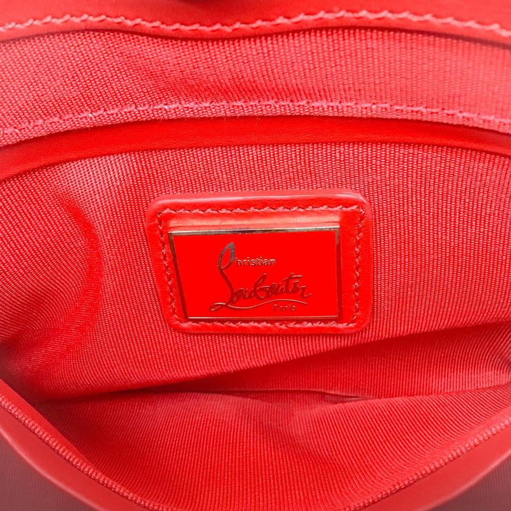 Christian Louboutin Textured Red Leather Baguette