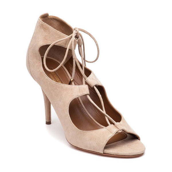 Christy 85 Nude Pumps by Aquazzura