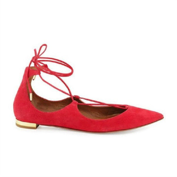 Christy Sorbet FLats by Aquazzura side