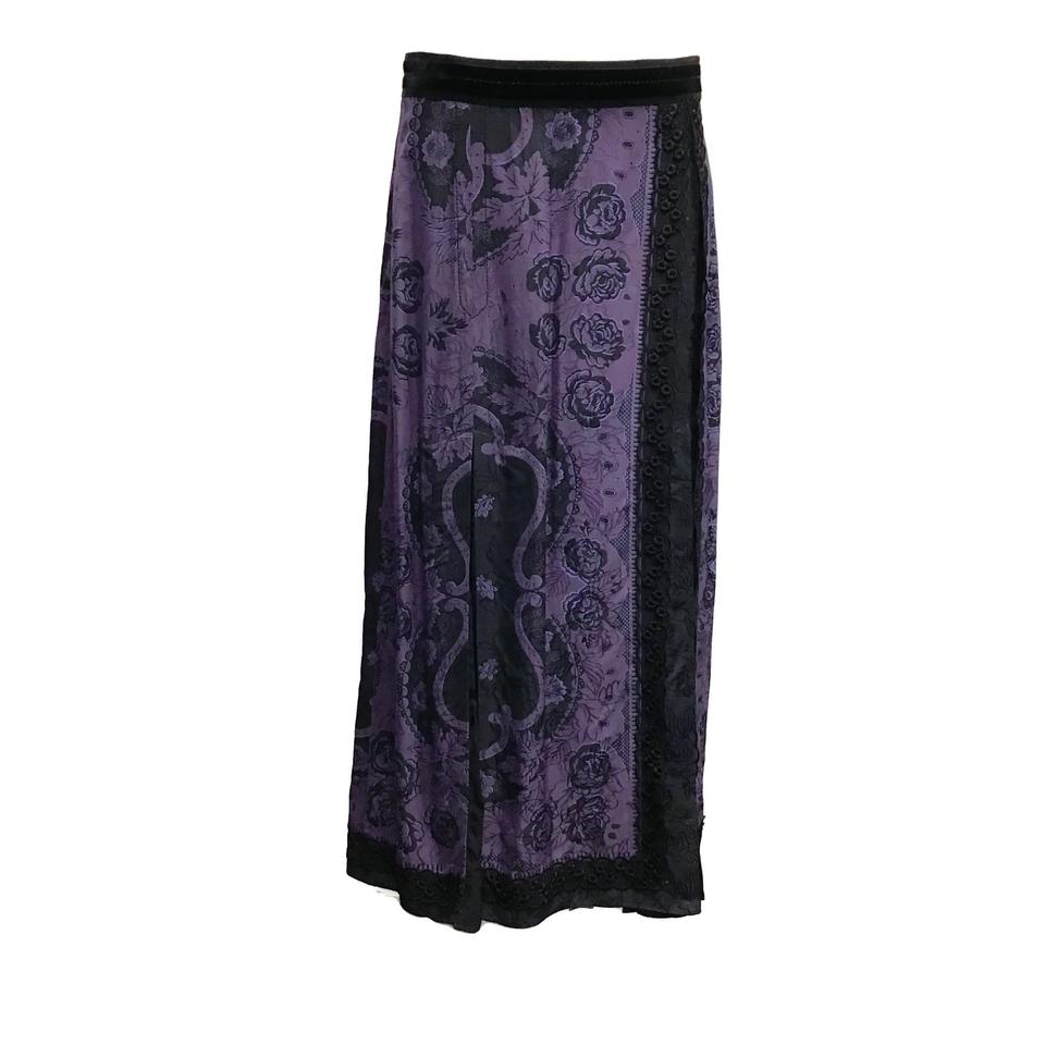 Coach 1941 Purple/Black Paisley Skirt