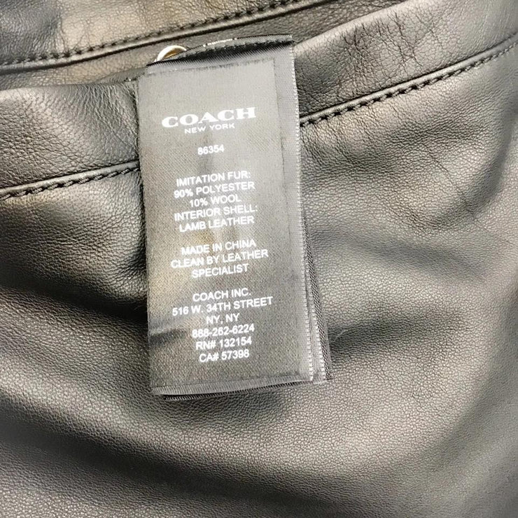 Coach Black Leather Men's Reversible Jacket