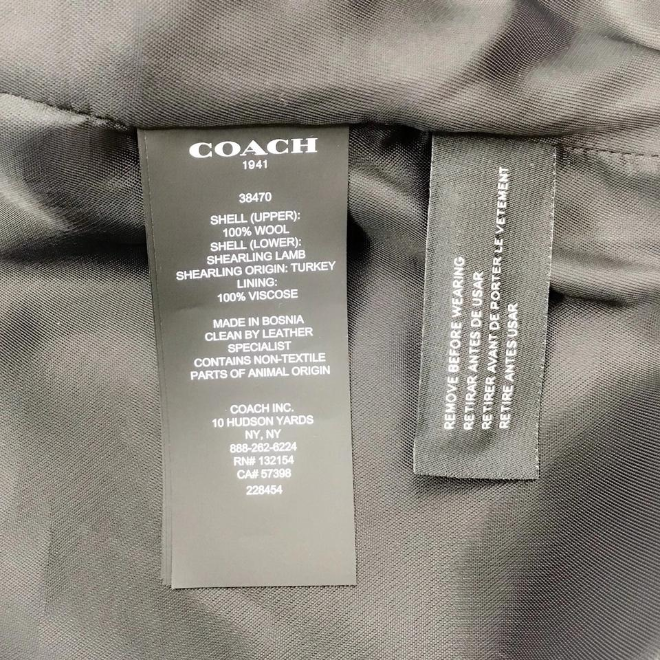 Coach 1941 Midnight Wool/Shearling Coat