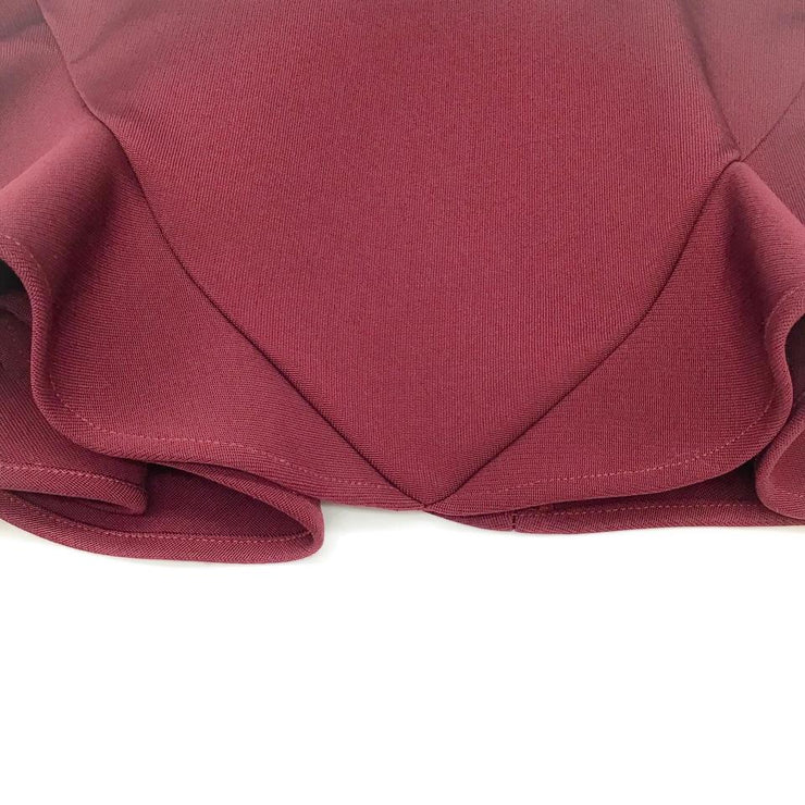 Cushnie et Ochs Burgundy Cut-out Dress
