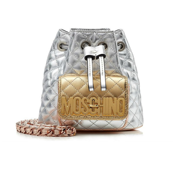 Moschino Quilted Mini Backpack In Metallic