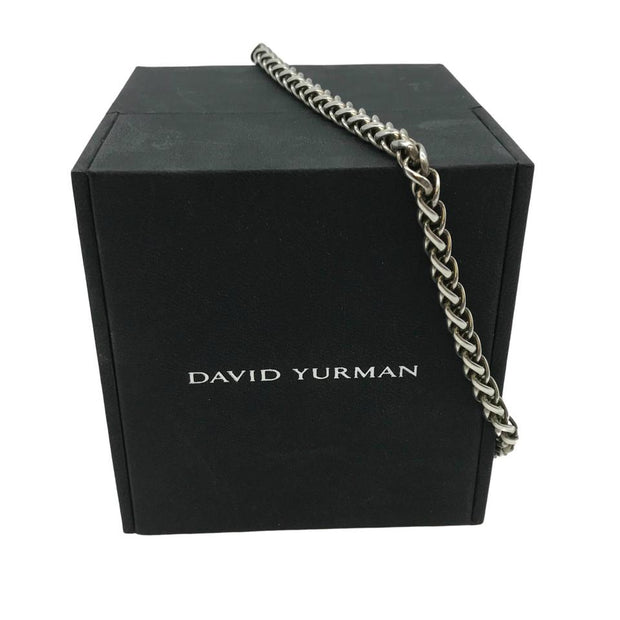 David Yurman Silver Cable Necklace