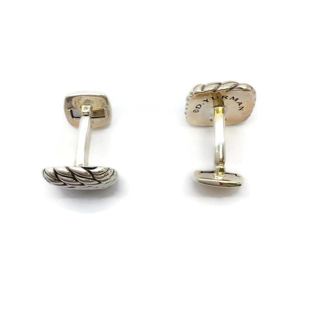 David Yurman Sterling Silver Cable Cuff Links