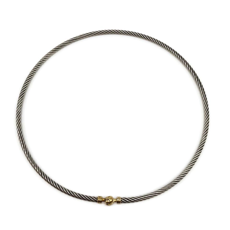 David Yurman Sterling/14k Gold Choker Necklace