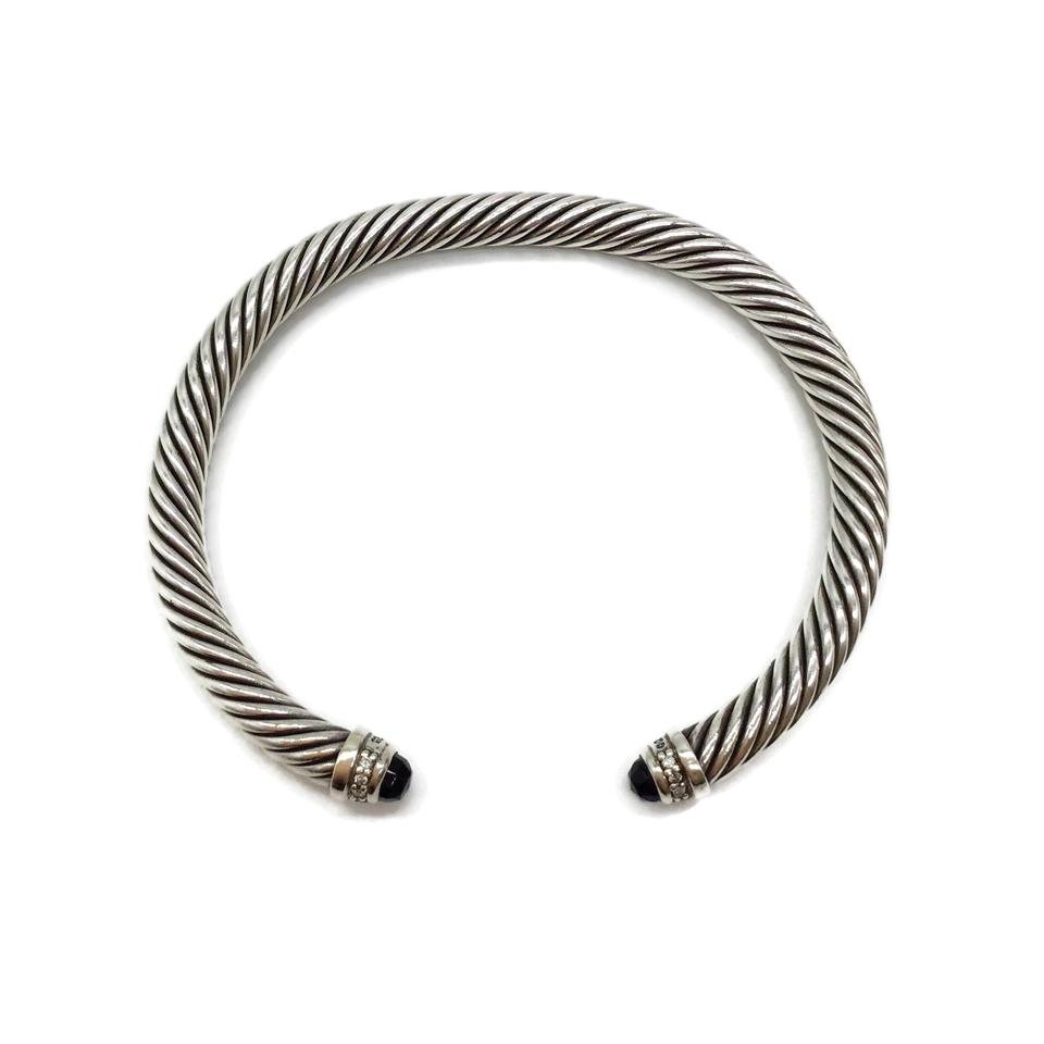 David Yurman Sterling/Onyx Cable Classics Bracelet