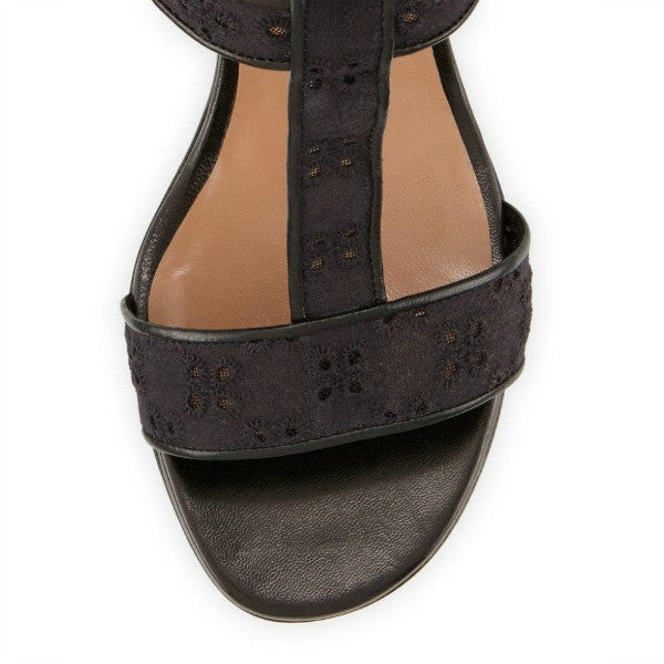 Diane Embroidery Black Sandals by Laurence Dacade toe