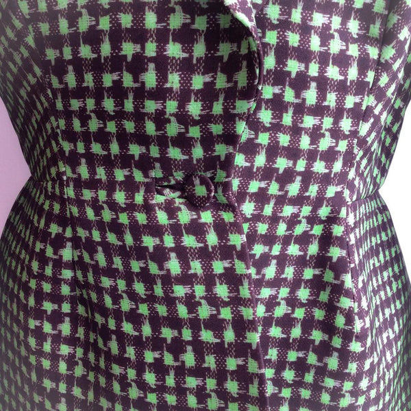 Houndstooth Triple Organza Jacket buttons