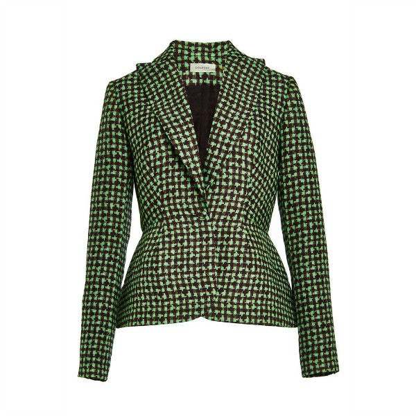 Houndstooth Triple Organza Jacket