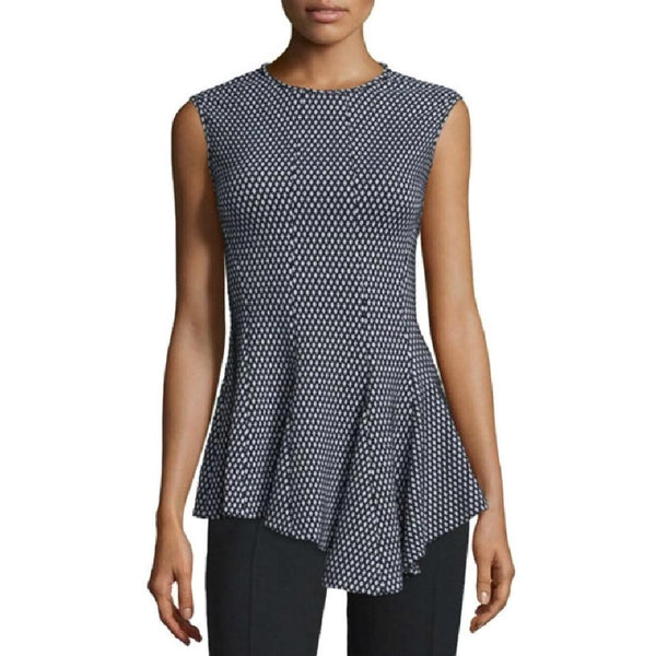Derek Lam Black / White Asymmetrical Blouse