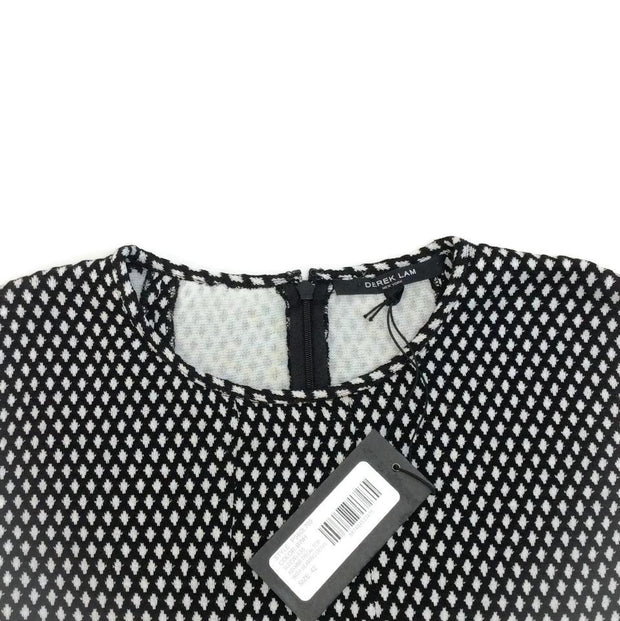 Derek Lam Black / White Asymmetrical Top
