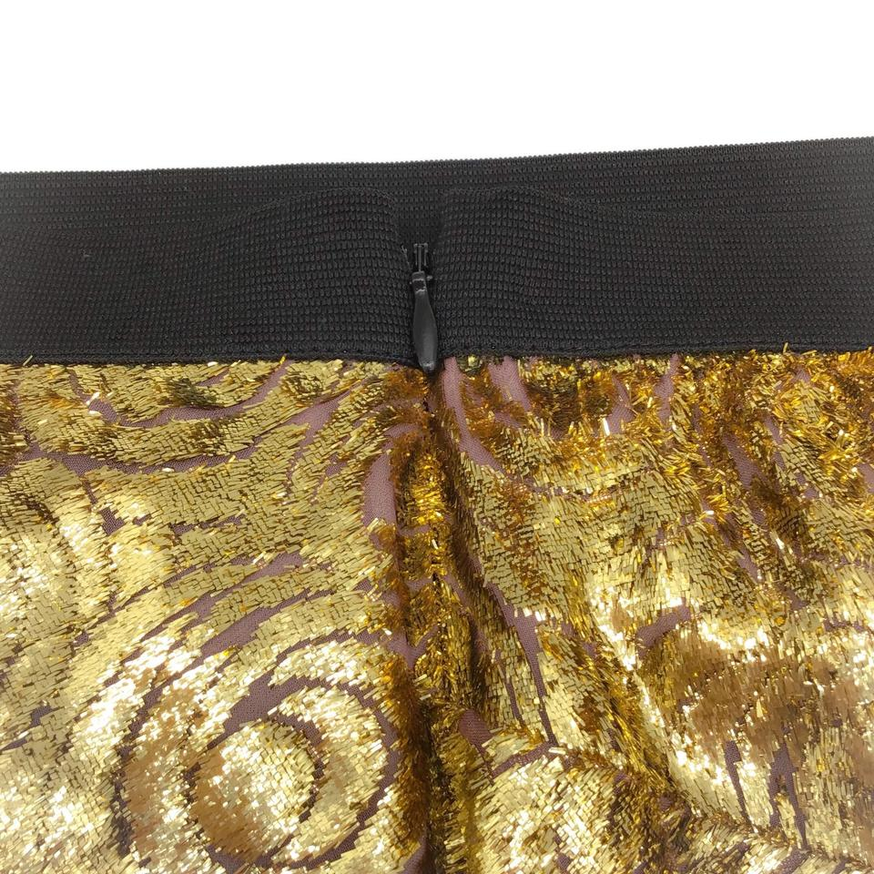 Derek Lam Gold Textured Skirt