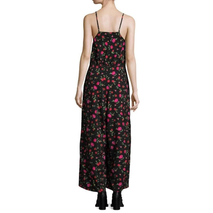 DODO BAR OR Black / Red Floral Violetta Jumpsuit