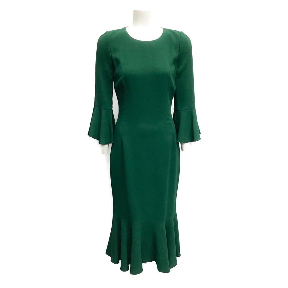 Dolce&Gabbana Green Fit and Flare Dress