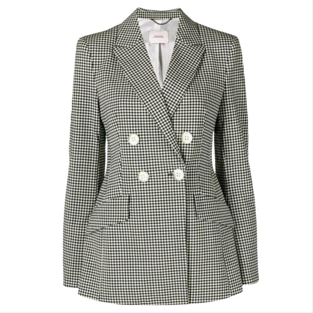 Dorothee Schumacher Black and White Bold Vichy Check Blazer