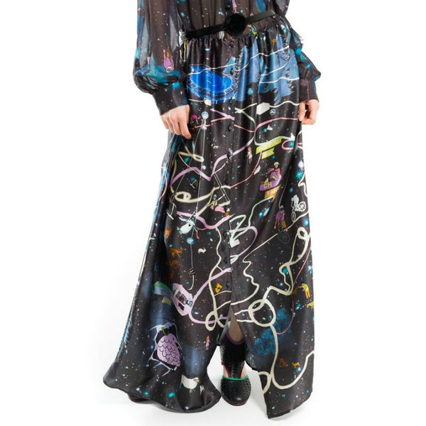Tsumori Chisato Black / Multi Attraction Casual Maxi Dress
