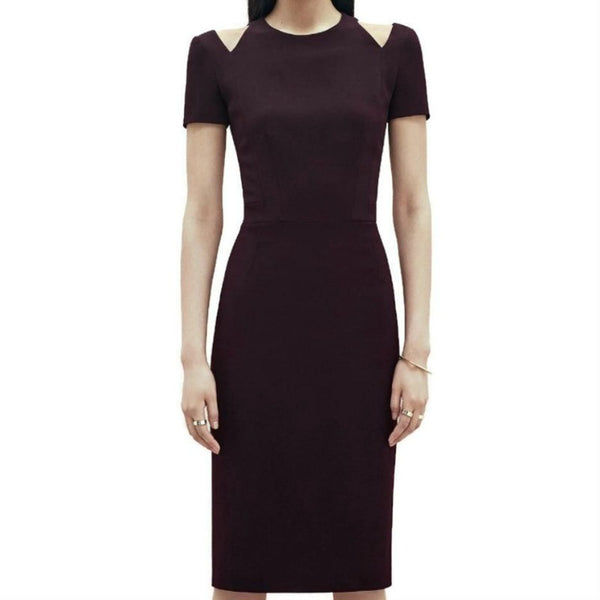 Kimora Lee Simmons Burgundy Uptown Cut-out Dress