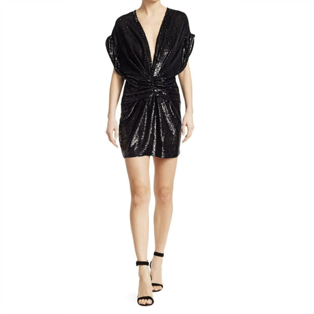 IRO Black Sequin Lilou Night Out Dress