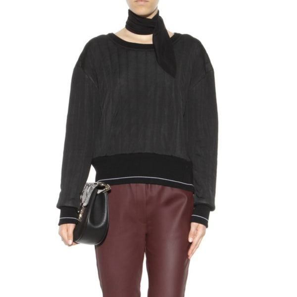Chloé Black Quilted Wool Blend Sweater