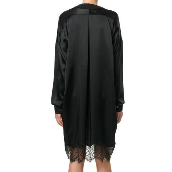 Faith Connexion Black Lace Trim Shirt Dress
