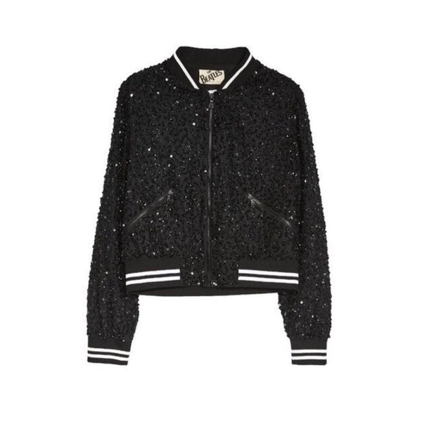 Alice + Olivia Black/White The Beatles Collective Jacket