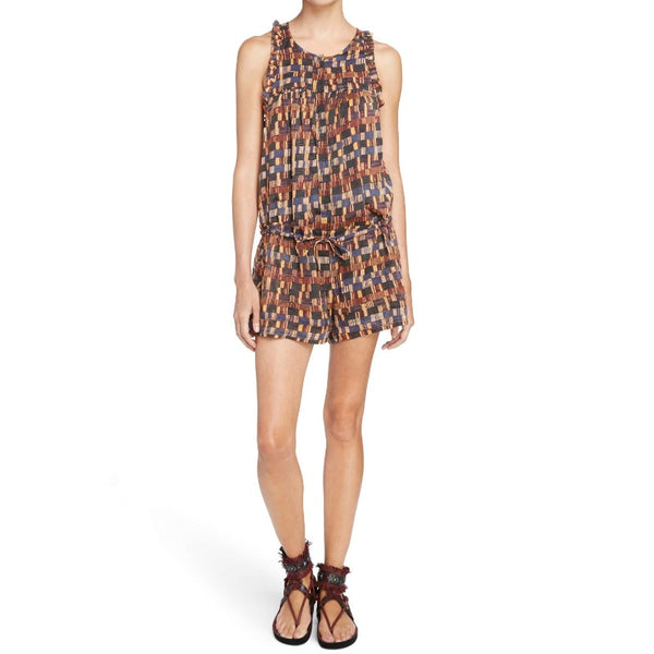 Étoile Isabel Marant Multicolor Niloh Cotton Romper