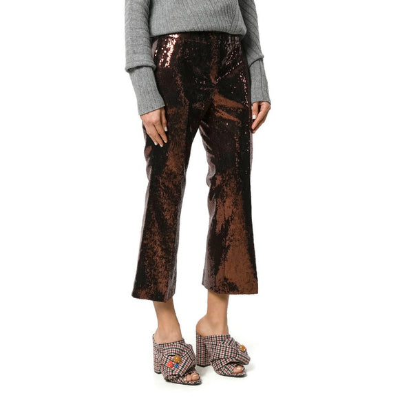 N°21 Brown Sequin Trousers Capri/Cropped Pants