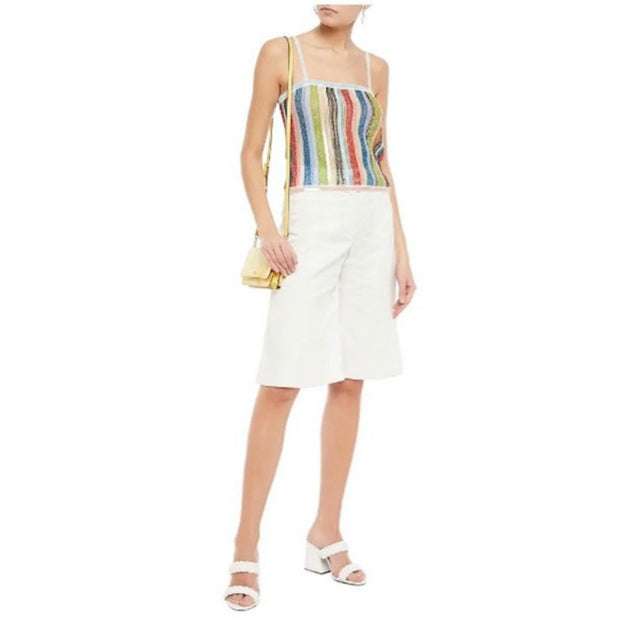 Missoni Multicolor Sequin Metallic Striped Tank Top