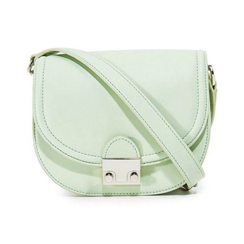 Loeffler Randall Saddle Pistachio Leather Cross Body Bag