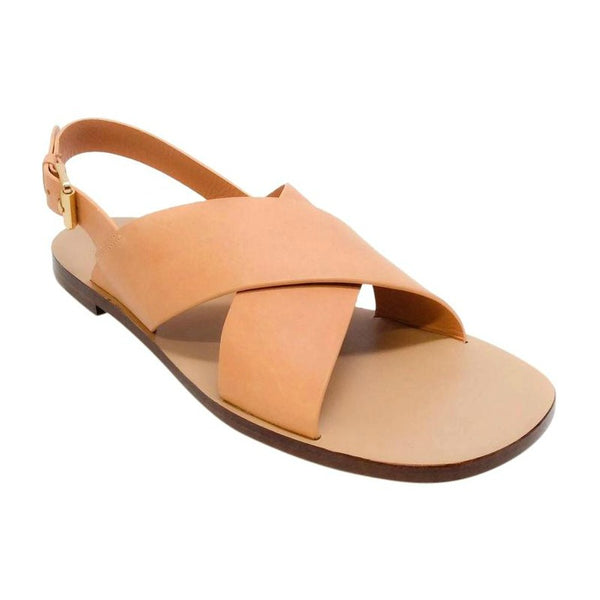 Mansur Gavriel Light Tan Crossover Sandals