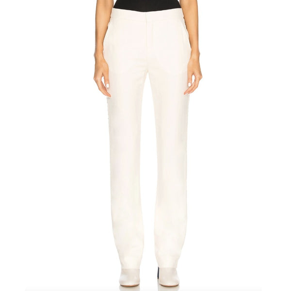 Chloé Dew Pink Crystal Embellished Trousers