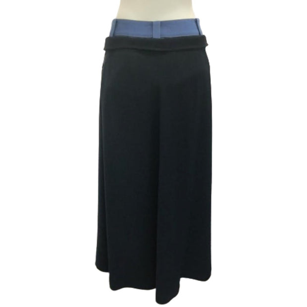 ADEAM Midnight Denim Double Waistband Skirt
