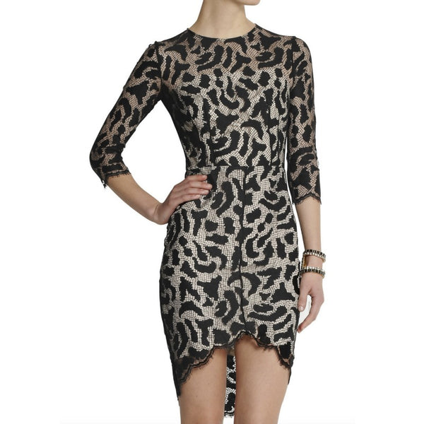Lover Black/Nude Jungle Fitted Dress