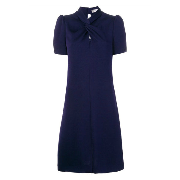 Lanvin Indigo Twist Neck Dress