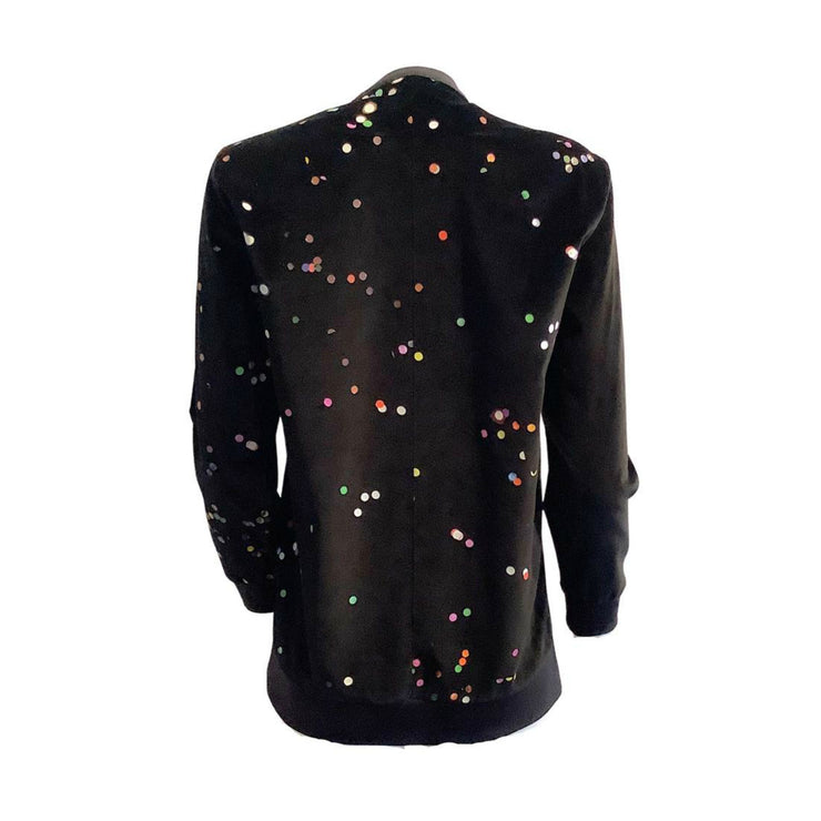 Givenchy Velvet Graphic Black Sweater
