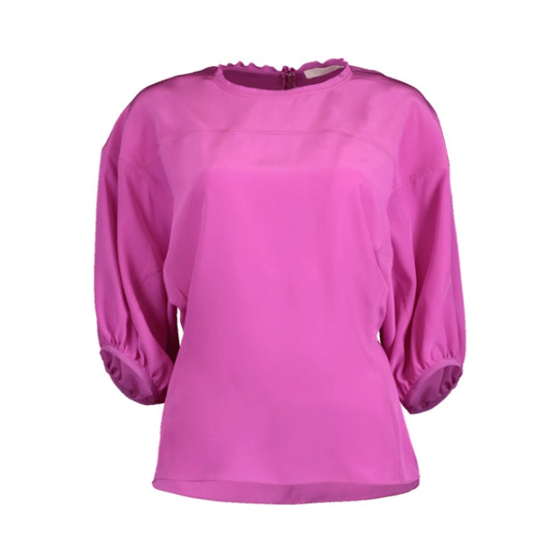 Chloé Violet Purple Wide Cuff Sleeve Blouse