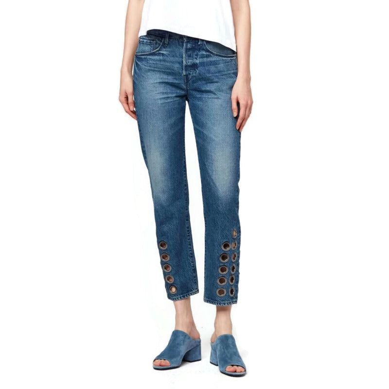 3X1 Dita P Medium Wash Hollow Higher Capri/Cropped Jeans