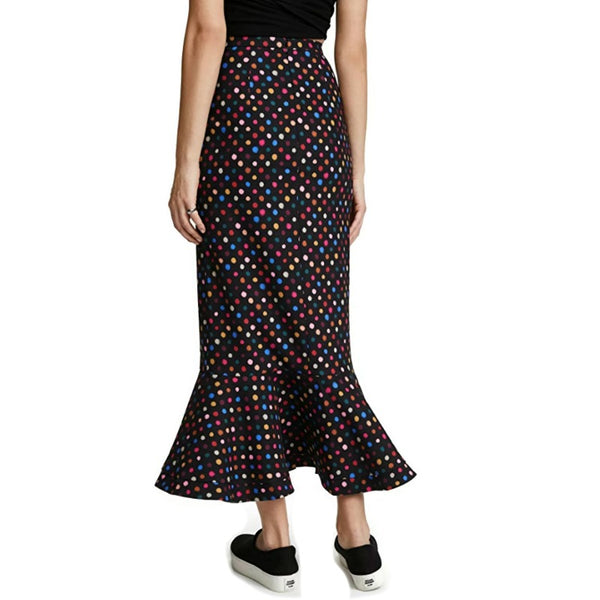 SALONI Rainbow Polka Dot Maxi Skirt