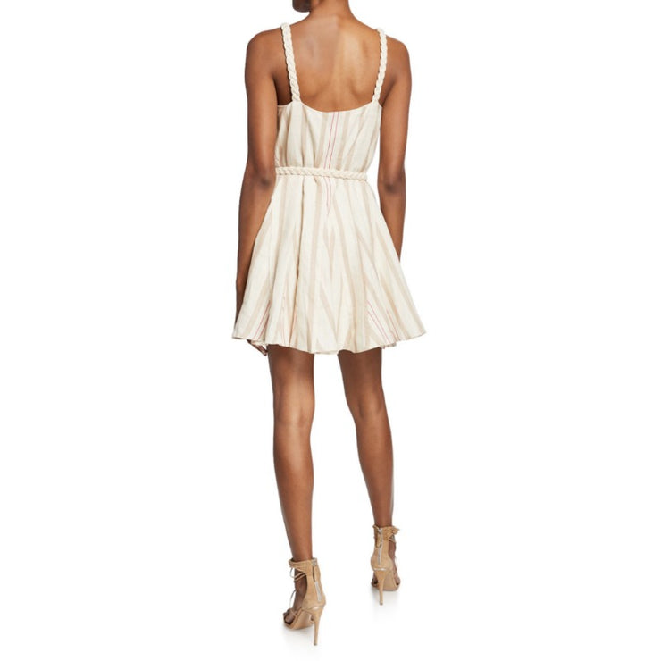 Alexis Beige Stripes Dimma Dress