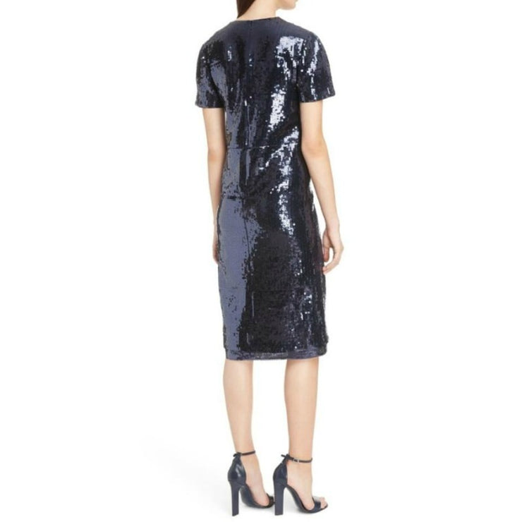 Victoria, Victoria Beckham Navy Sequin Shift Dress